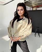 Женская  куртка  косуха  из эко-кожи (Фабричный Китай)