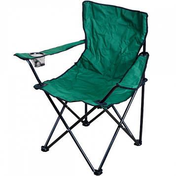 Стул-кресло раскладной туристический в чехле для рыбалки, пикника, кемпинга 80х40х40 см цв.зеленый (СР-07)