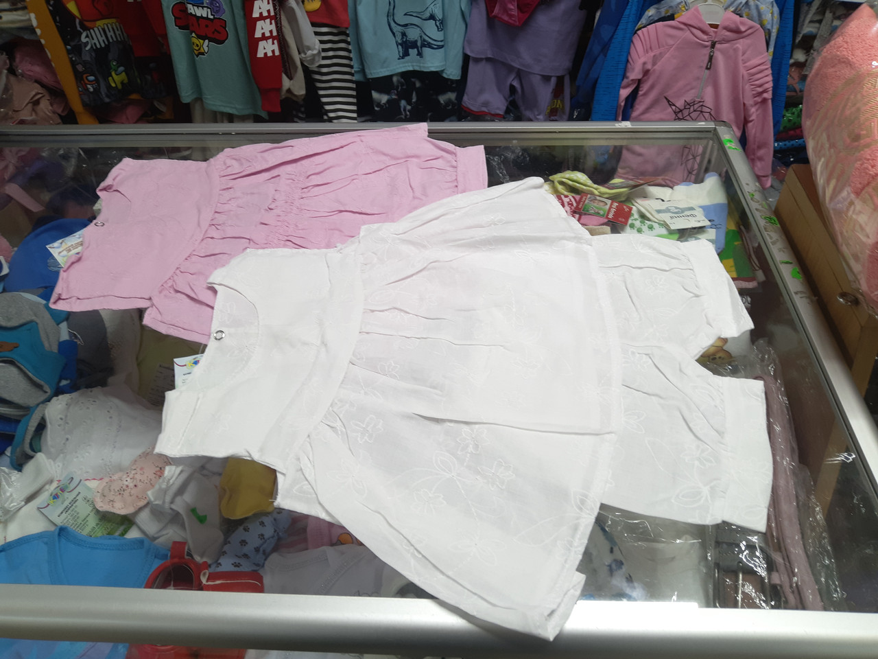 Костюм летний для девочки Платье шорты Батист р.62 - 74