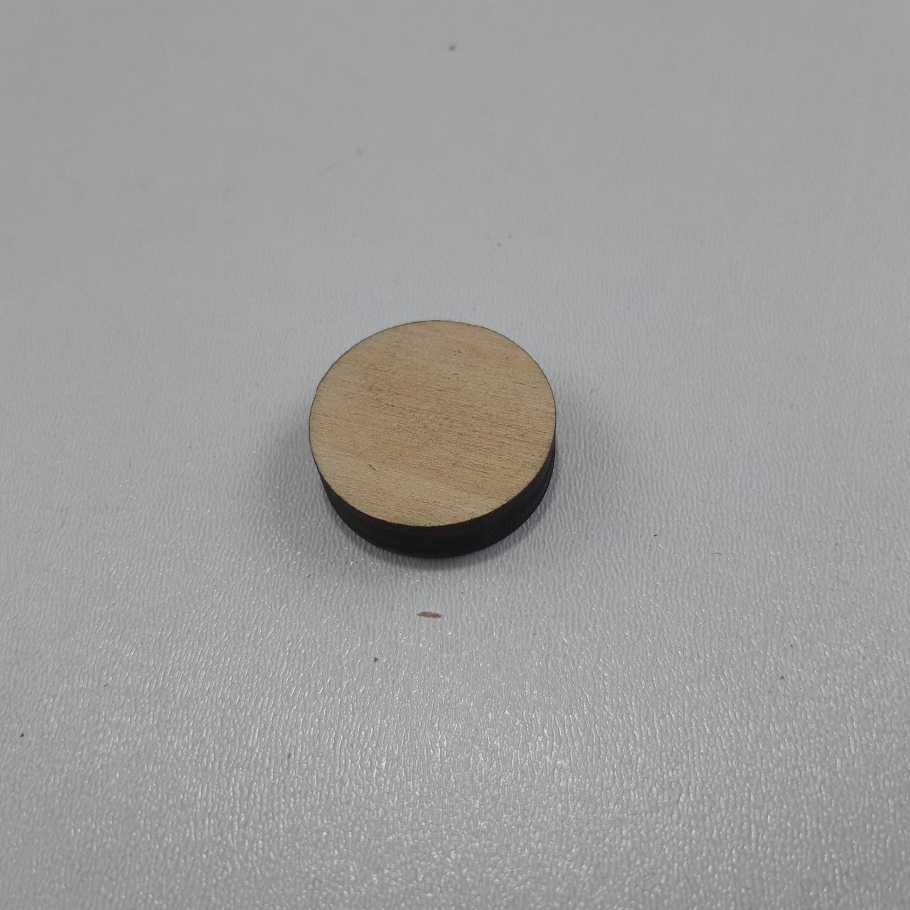 Заготівля з фанери коло. D-25 мм фанера 6 мм