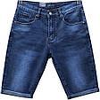 Качественные мужские джинсовые шорты Versacс тёмно-синего цвета, фото 2