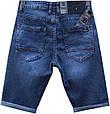 Качественные мужские джинсовые шорты Versacс тёмно-синего цвета, фото 3