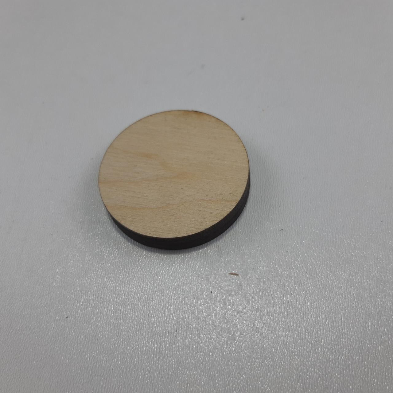 Заготівля з фанери коло. D-37 мм фанера 6 мм