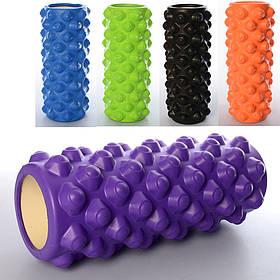 Массажный ролик, валик для массажа спины (йога ролл массажер для спины, шеи, ног) OSPORT 34*14см (OF-0090)
