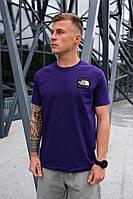 Мужская фиолетовая футболка The North Face на лето хлопковая