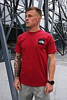 Мужская красная футболка The North Face на лето хлопковая
