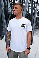 Мужская белая футболка The North Face на лето хлопковая
