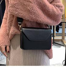 Женская мини сумочка черная на 1 отделение
