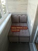 Диван для балкона, диван для лоджии, диван для кухни, диван с пуфиками 780х500мм