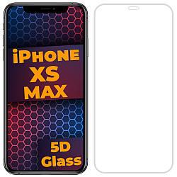 5D стекло iPhone XS Max (Защитное Full Glue) White (Айфон ХС Мах Икс Эс Макс)