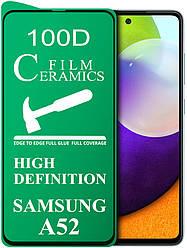 Керамическое стекло Ceramics Samsung Galaxy A52 A525 (гибкое 9D) (Самсунг Галакси А52)