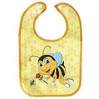 Слюнявчик непромокаемый Пчелка (желтая), фото 1