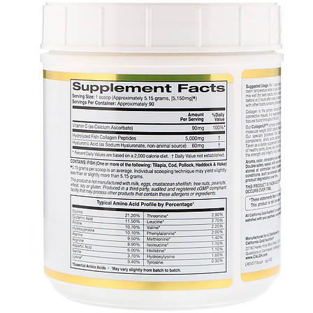 Коллаген Пептиды UP без ароматизаторов, Collagen, California Gold Nutrition, 16,36 унц. (464 г), фото 2