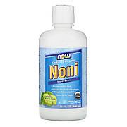 Органический Нони, сок суперфрукта, Now Foods, Noni SuperFruit Juice, 32 жидкие унции (946 мл)