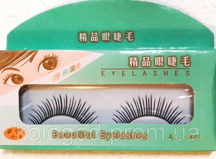Карнавальні Накладні Вії Beautiful Eyelashes в Упаковці 10 Комплектів