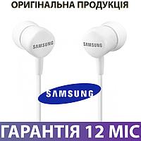 Наушники Samsung EO-HS1303 белые, с микрофоном, проводные, вакуумные, гарнитура самсунг для телефона
