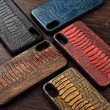 """Силиконовый чехол накладка противоударный со вставкой из натуральной кожи для Motorola Edge """"GENUINE"""""""
