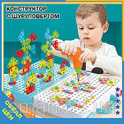 Розвиваючий конструктор Tu Le Hui Creative Puzzle 4 в 1 мозаїка з шуруповертом валізу болтова дитячий