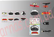 Ліхтар велосипедний передній і задній світло QX-T0203 акумуляторний