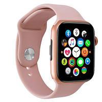 Умные смарт часы, Smart Watch C500, Sim card, голосовой вызов, розовый, IP67