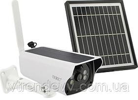 Уличная аккумуляторная IP камера видеонаблюдения с солнечной панелью UKC Solar HD Camera 4G