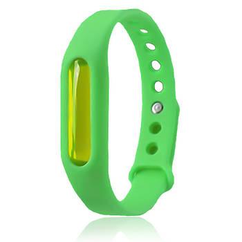 Силиконовый браслет от комаров с капсулой Зеленый