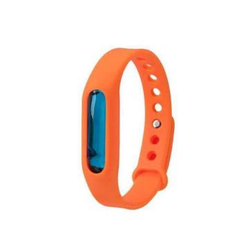 Силиконовый браслет от комаров с капсулой Оранжевый