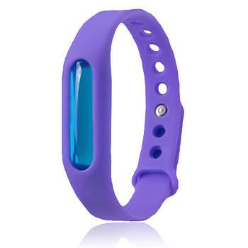 Силиконовый браслет от комаров с капсулой Фиолетовый