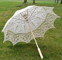 Парасолька мереживна. довж. 66 см. Колір Білий / Зонт кружевной, белый. Длина 66 см