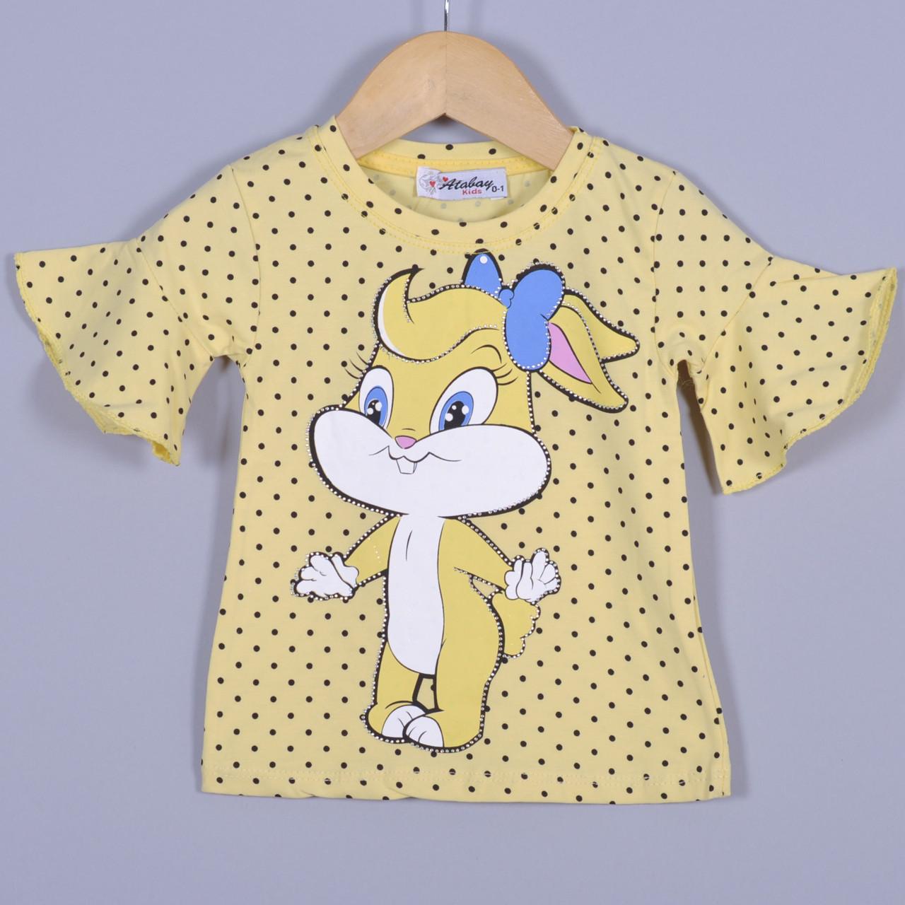 Детская футболка, трикотаж, для девочек 5-8 года (4 ед. в уп), Красный