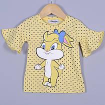 Дитяча футболка, трикотаж, для дівчаток 5-8 року (4 од. уп), Червоний