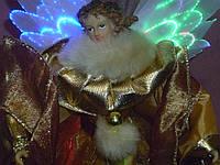 Ангел новогодний с подсветкой коллекционный игрушка кукла
