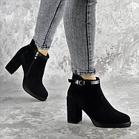 Ботильоны женские Fashion Magnolia 2371 38 размер 24,5 см Черный