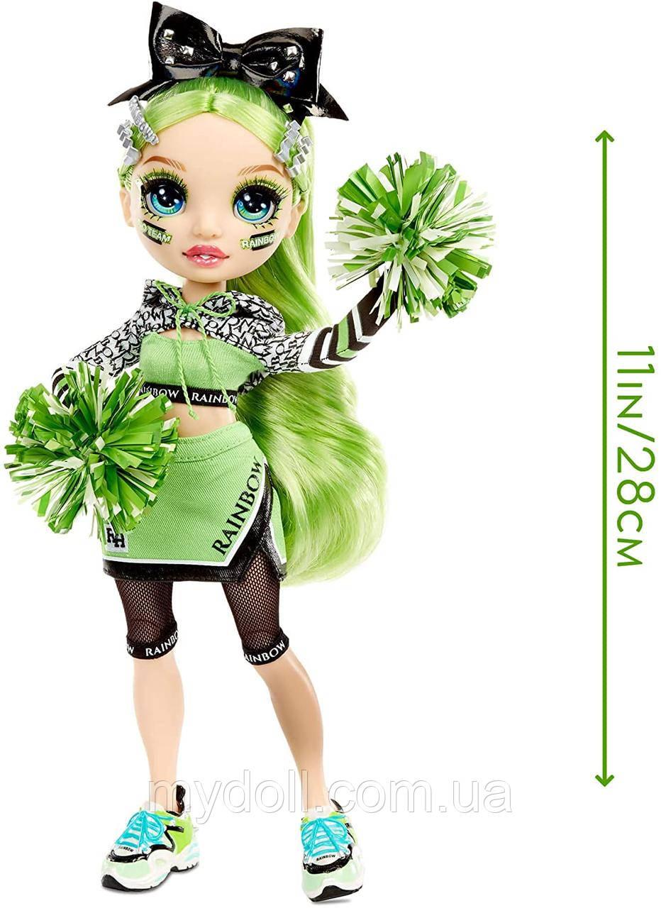 Лялька Мосту Хай Джейд Хантер Cheerleader - Rainbow High Cheer Jade Hunter Green Cheerleader 572060EUC Оригінал