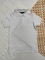 Однотонная футболка-поло с коротким рукавом р 116-134