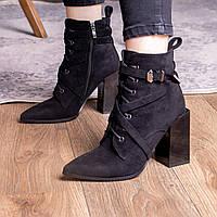 Ботильоны женские Fashion Stooker 2406 36 размер 23,5 см Черный