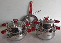 Набор кухонной посуды O.M.S. Collection 1025 red 9 пр