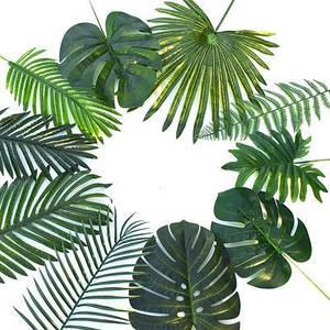 Искусственные растения монстеры пластиковые листья тропической пальмы аксессуары для фотосъемки