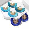 Тюрбан річний , шапка чалма і сережки , набір аксесуарів, фото 2