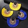 Тюрбан річний , шапка чалма і сережки , набір аксесуарів, фото 4