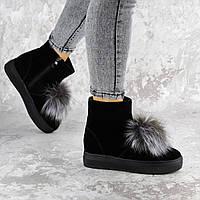 Женские зимние ботинки с мехом Fashion Kelly 1407 38 размер 24 см Черный
