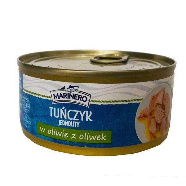 Тунец цельными кусочками в оливковом масле Marinero Tunczyk, 160г, Польша, в жестяной банке