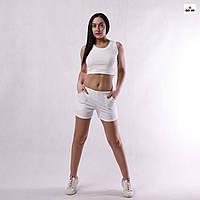 Женский костюм для фитнеса молодежный топ с шортами хлопковая р.42-50