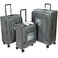 Комплект чемоданов тканевых Airtex 838  на 4 колесах, серый, фото 1