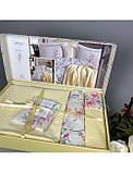 Комплект Хлопкового Постельное Белья Ранфорс C Летним Вафельным Покрывалом-Пледом Евро Размер Турция Istanbul, фото 3