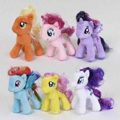 М'яка іграшка Поні ціна за 12 штук в упаковці, фіолетова, 16 см SKL11-221592