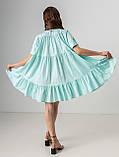Летнее короткое платье-рубашка свободного кроя с  воротником на пуговицах  в 4 цветах в универсальном размере, фото 2