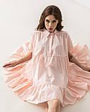 Летнее короткое платье-рубашка свободного кроя с  воротником на пуговицах  в 4 цветах в универсальном размере, фото 8