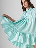 Летнее короткое платье-рубашка свободного кроя с  воротником на пуговицах  в 4 цветах в универсальном размере, фото 3