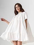Летнее короткое платье-рубашка свободного кроя с  воротником на пуговицах  в 4 цветах в универсальном размере, фото 10